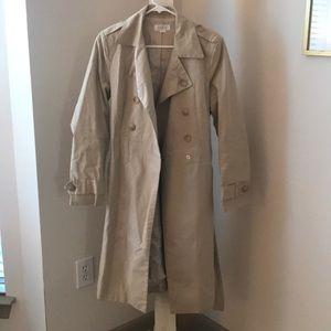 Barney's New York beige tench coat